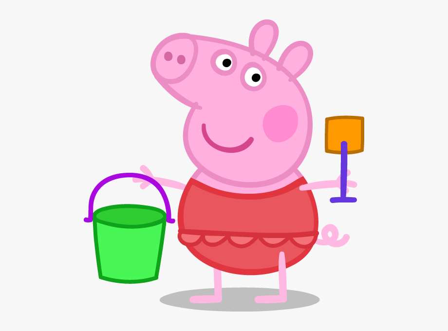Clipart pig beach. Peppa png at the