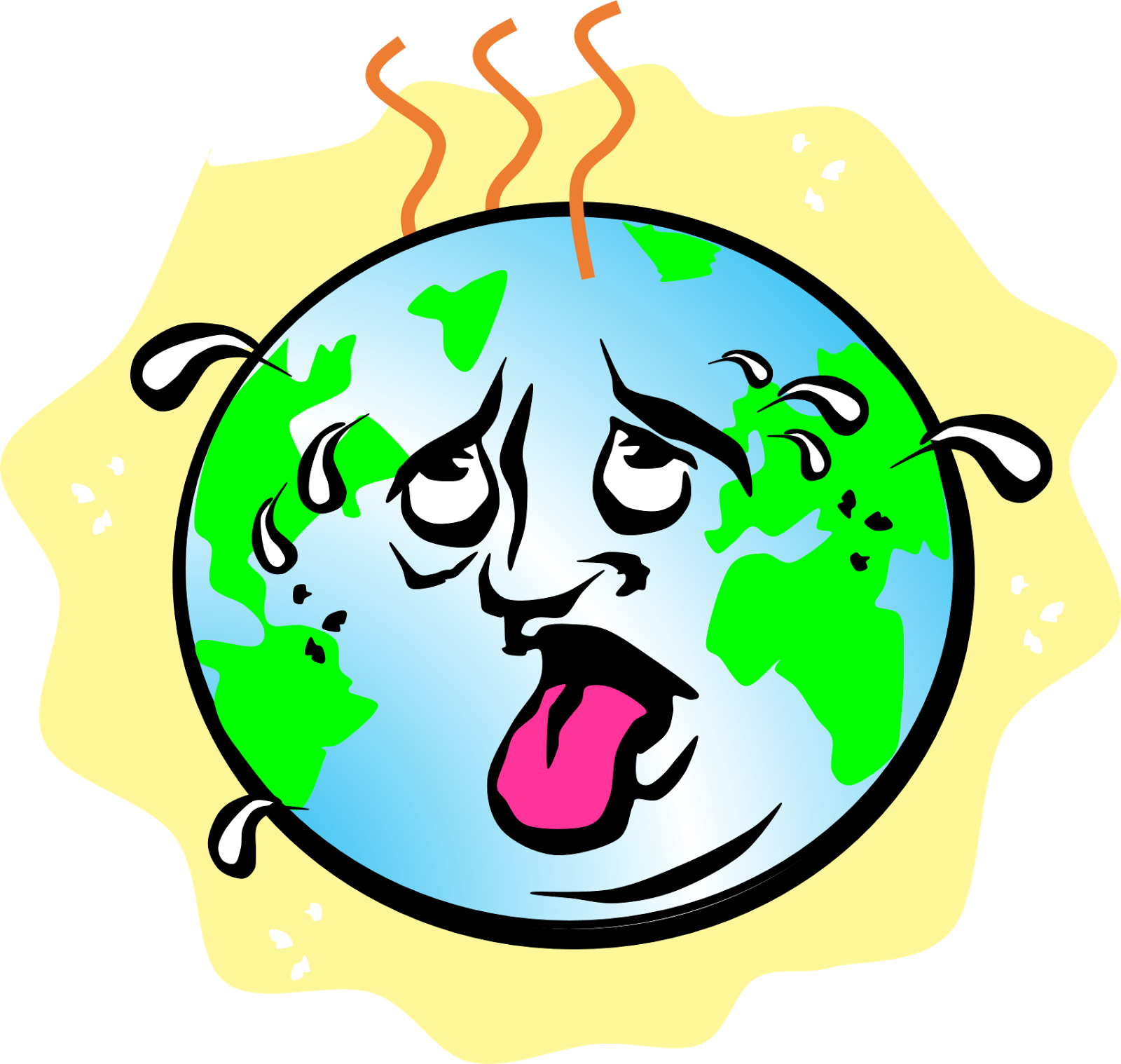 Handprint clipart childcare. Save the earth poster