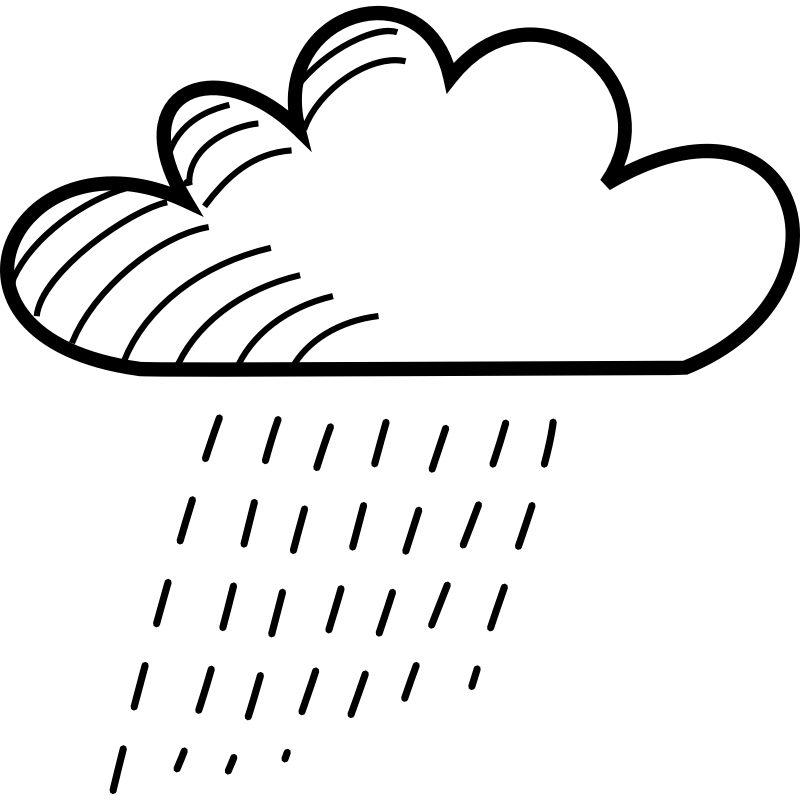 Rainy stick figure cliparts. Cloud clipart doodle