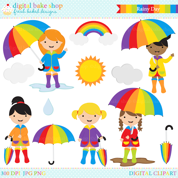 Free rainy day image. Wet clipart chick