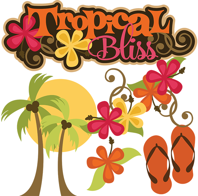 Tropical bliss svg beach. Words clipart vacation