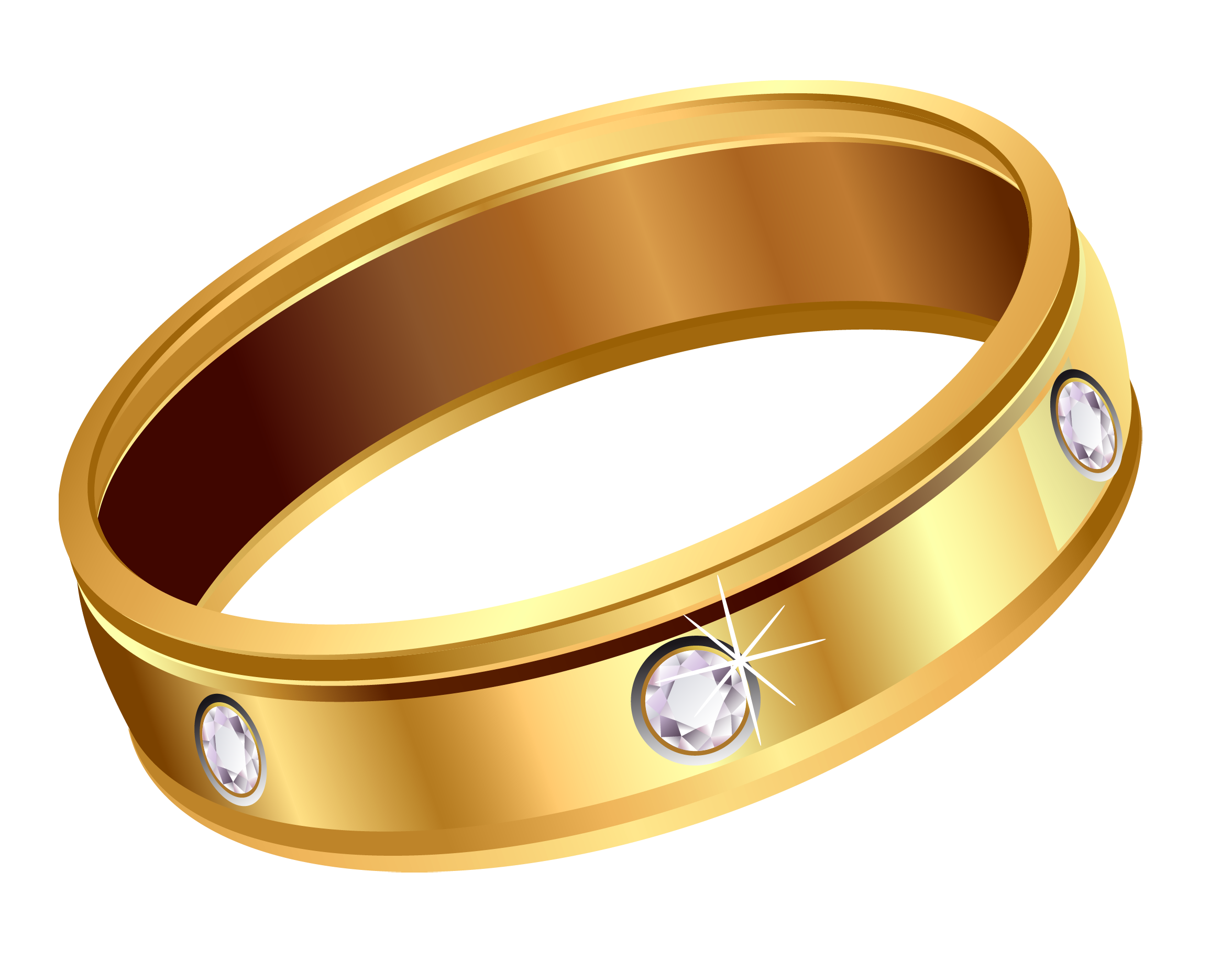 Transparent ring with diamonds. Necklace clipart gold traditional