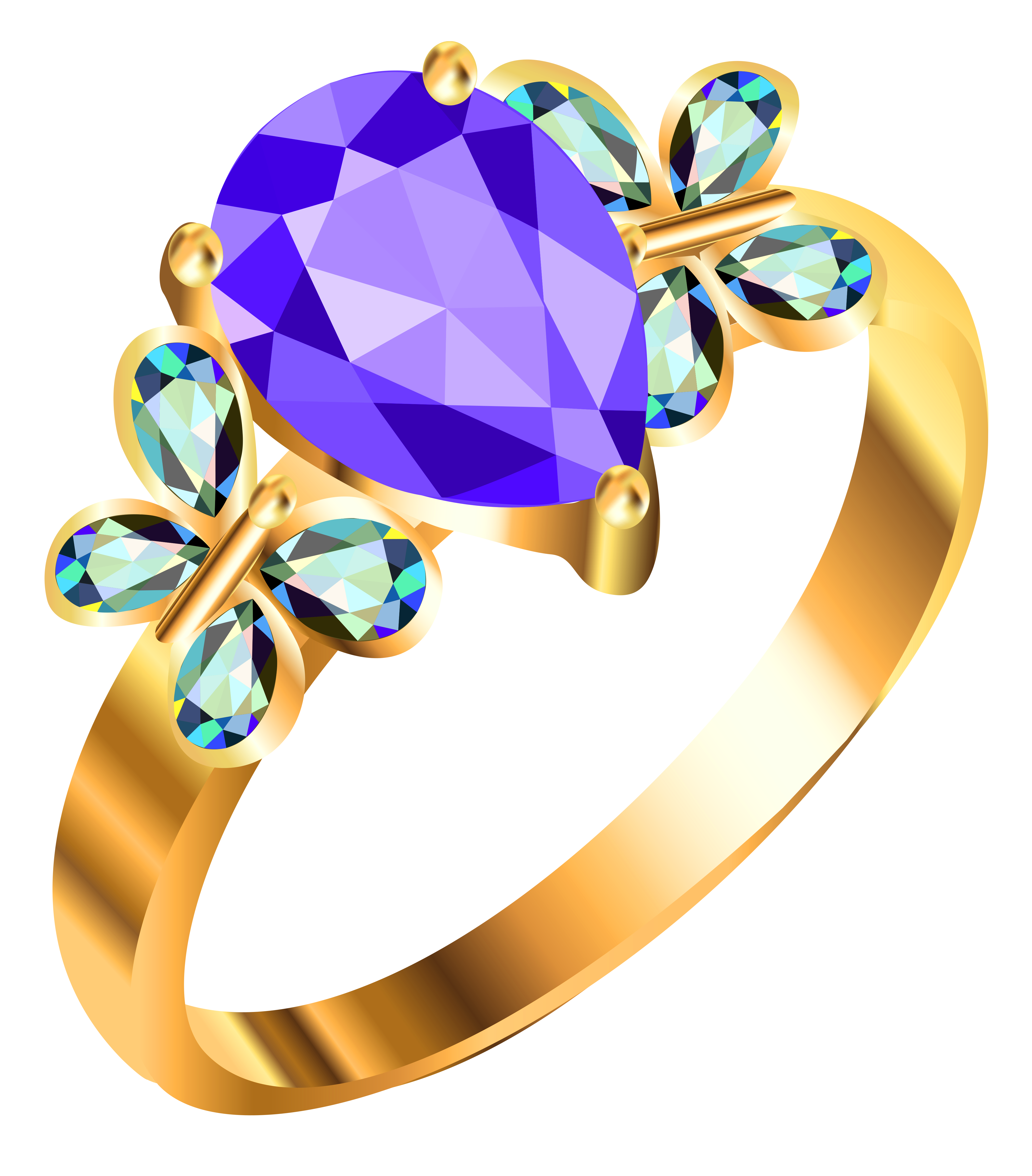 Gold ring with blue. Handcuff clipart animated