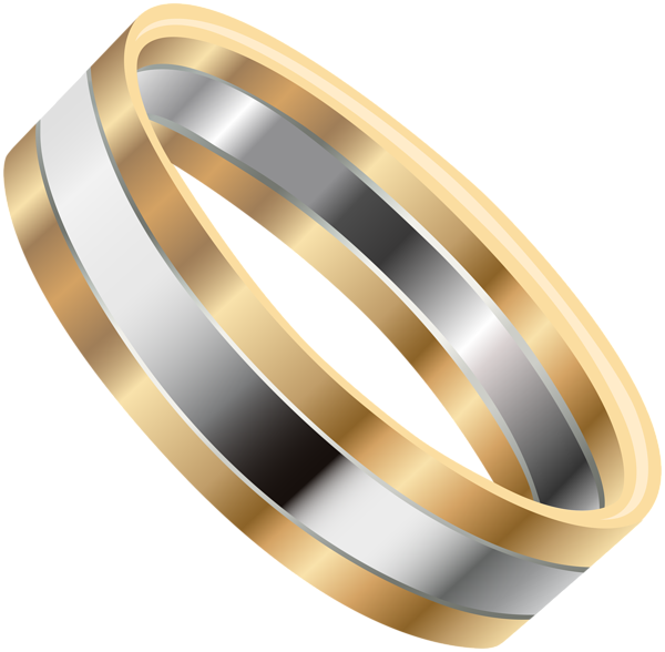 Silver ring png clip. Clipart wedding gold