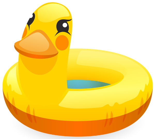Duck ring png clip. Ducks clipart swimming