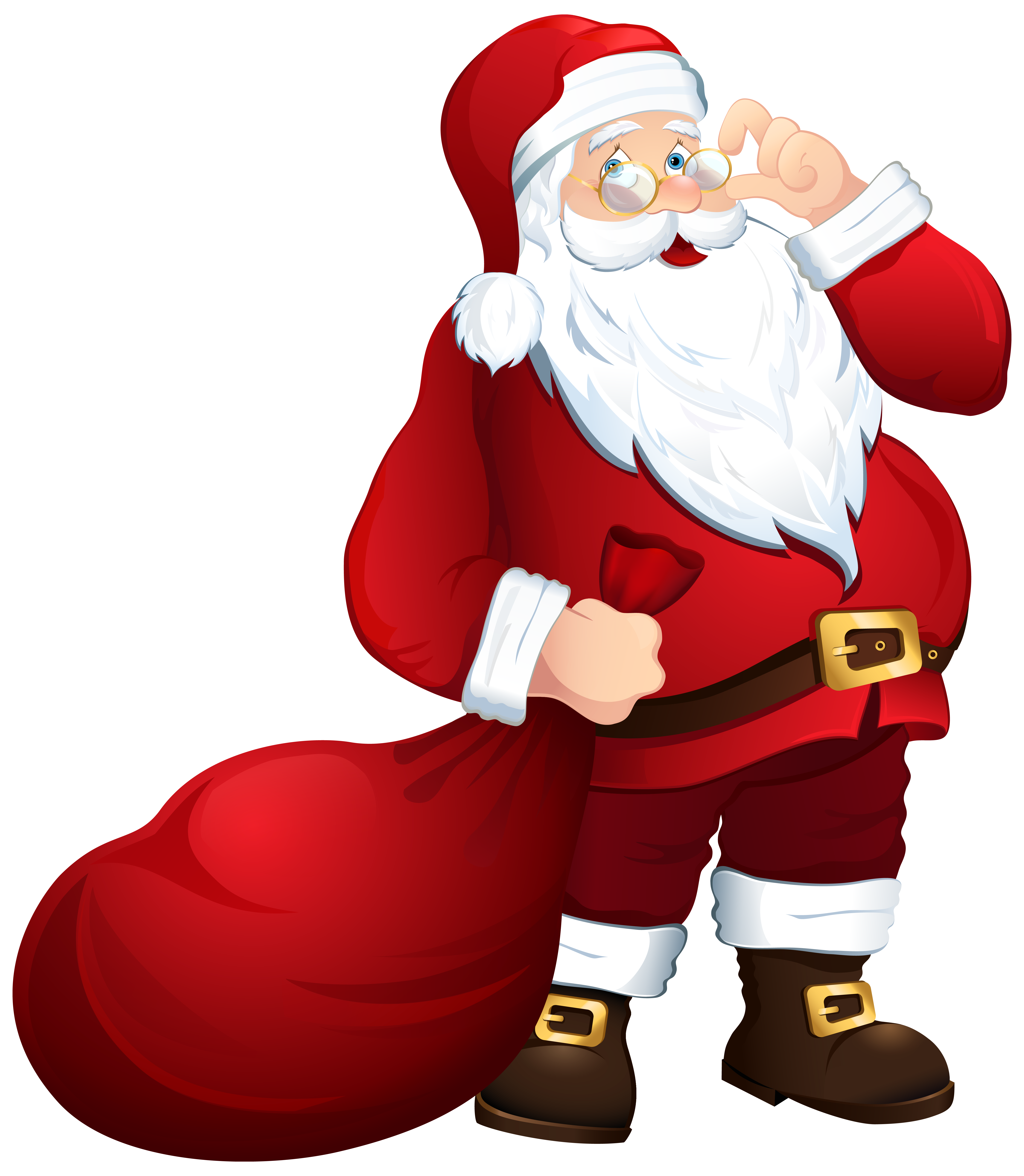 Thanks clipart christmas. Santa claus with bag
