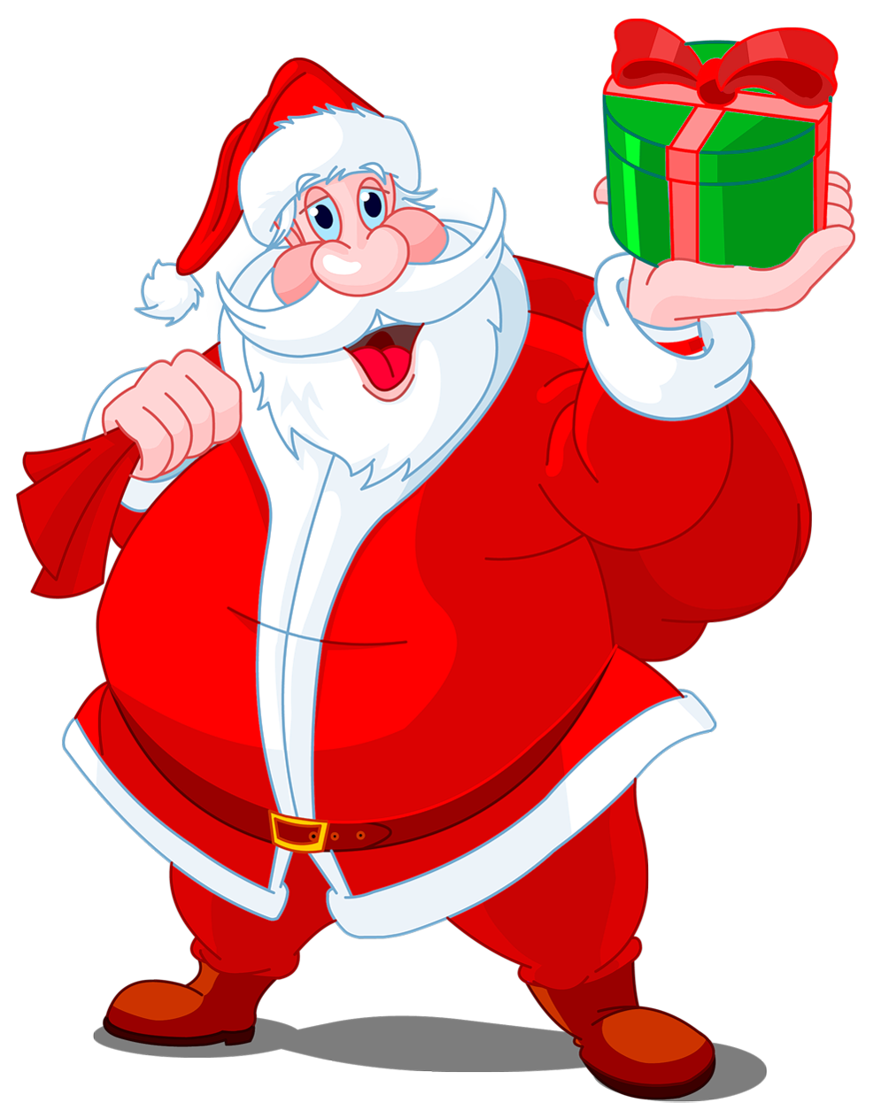 Transparent claus with green. Clipart free santa