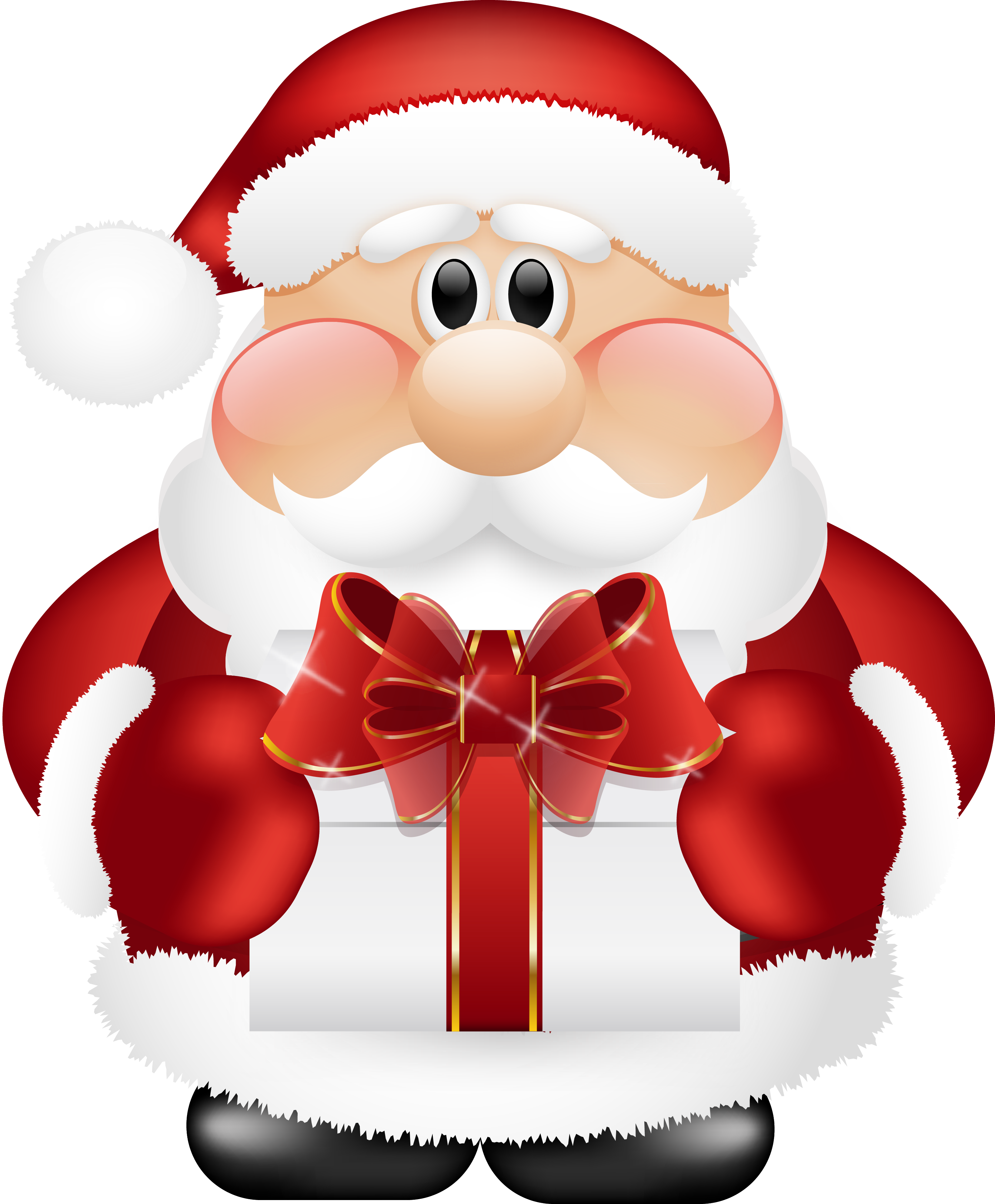 Cute santa claus with. Missions clipart secret pal