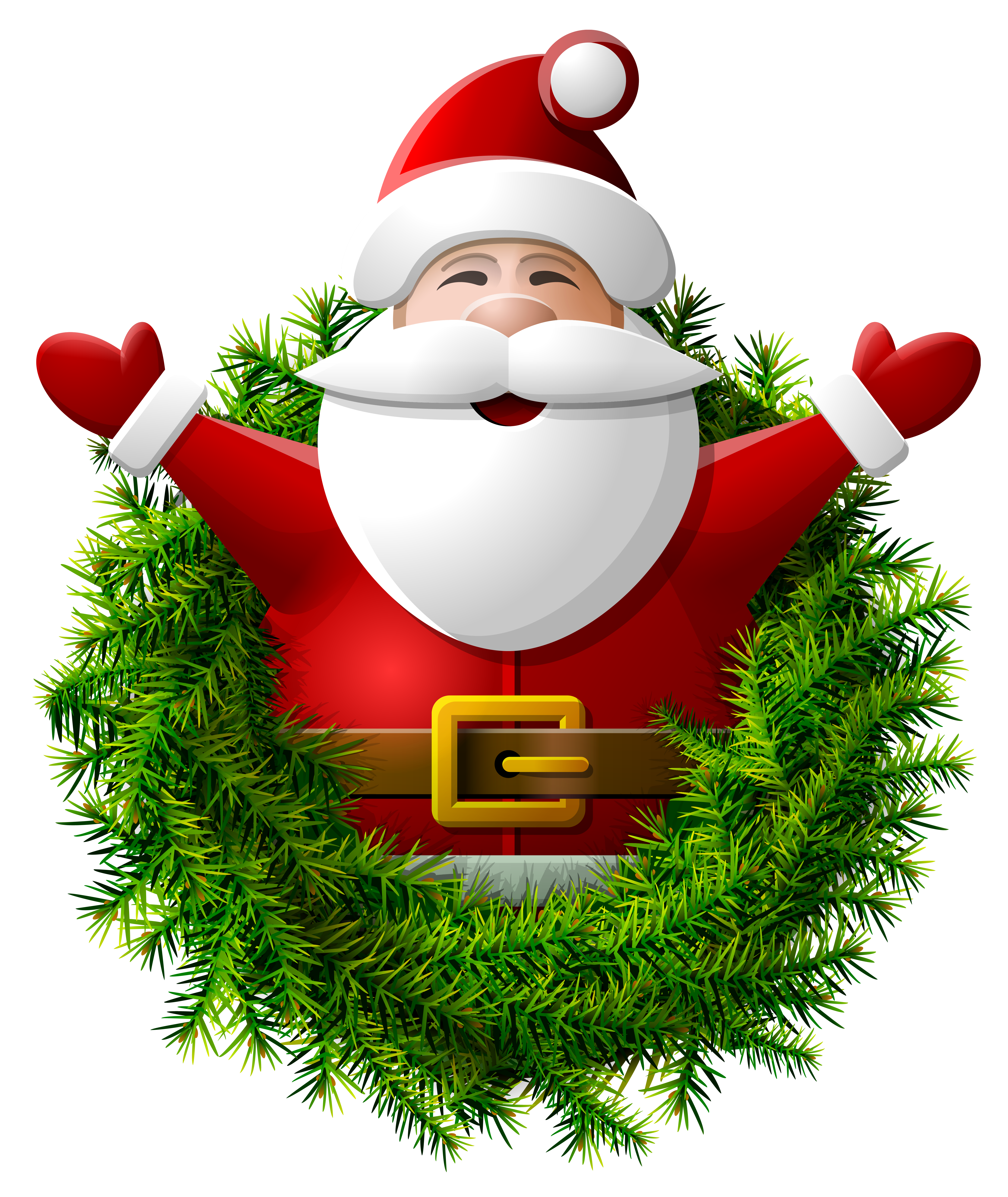 Father clipart christmas santa claus. Wreath png image gallery