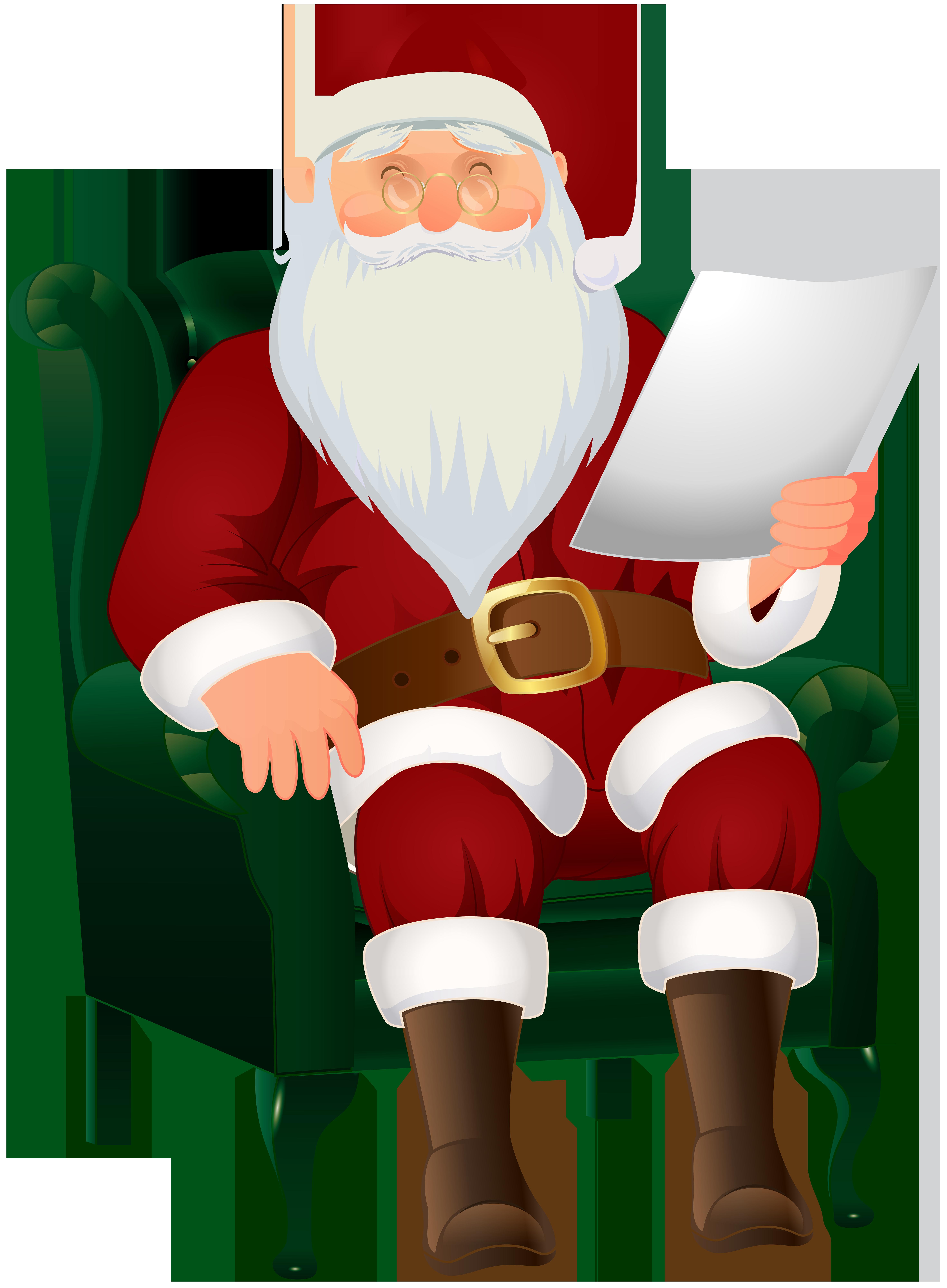 Santa clipart xmas. Claus sitting png clip