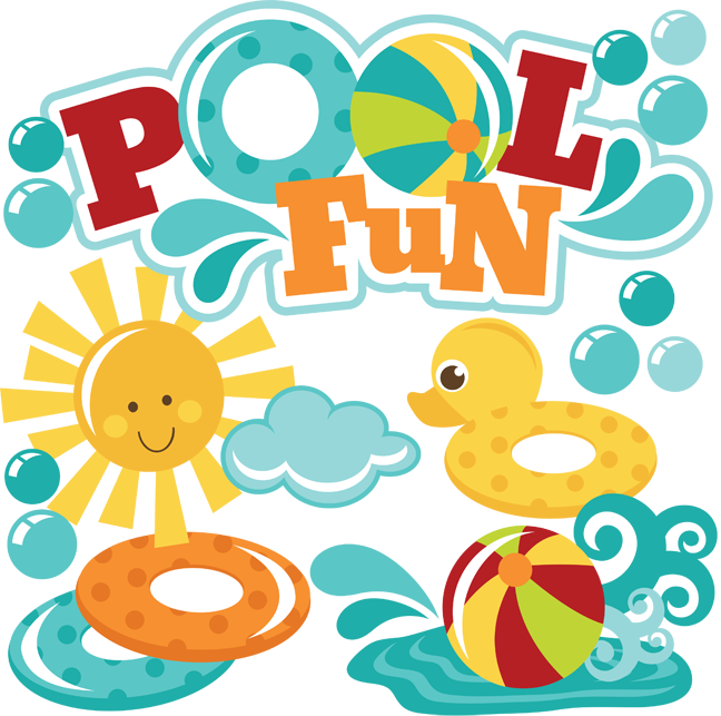 Pool fun svg files. Design clipart scrapbook
