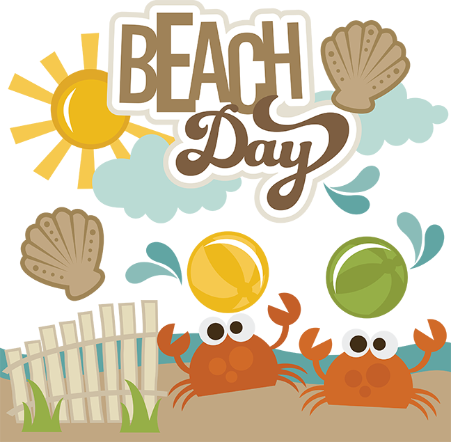 Beach day svg scrapbooking. Yearbook clipart scrapbook themed