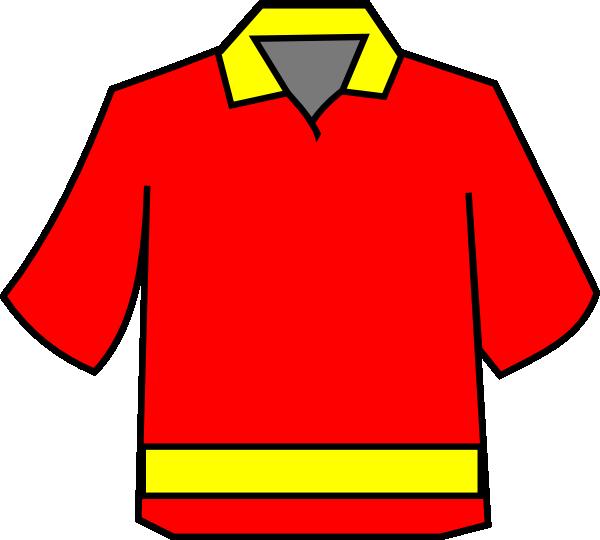 Club clipart line art. Shirt red yellow clip
