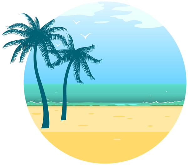 Desert clipart coastal. Summer sea decoration png