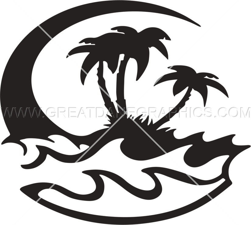 Beach production ready artwork. Leaf clipart printing