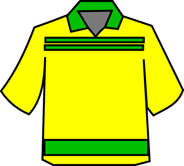 Club clip art at. Clipart shirt yellow bag