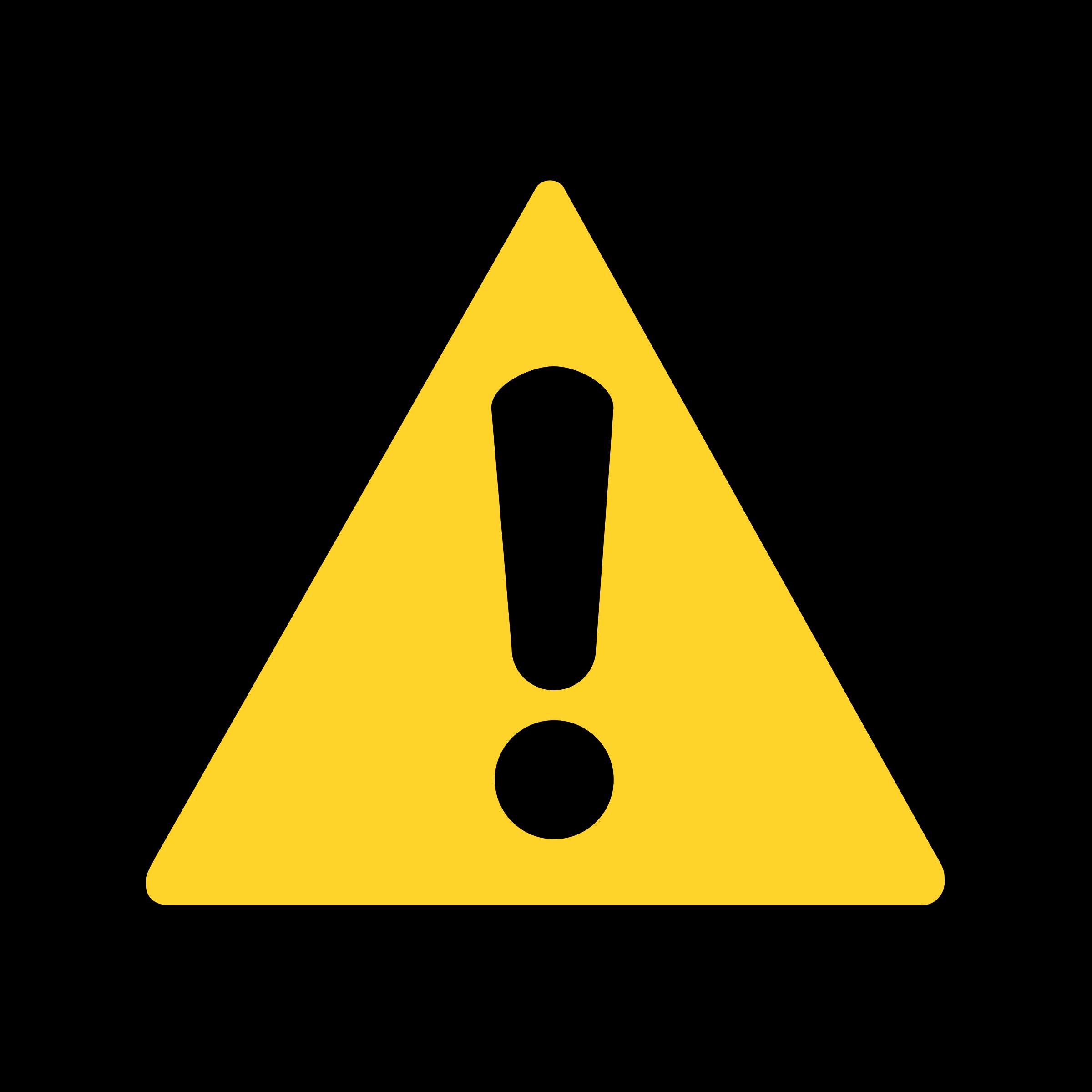 Emergency clipart warning symbol. Icon by matthewgarysmith signs