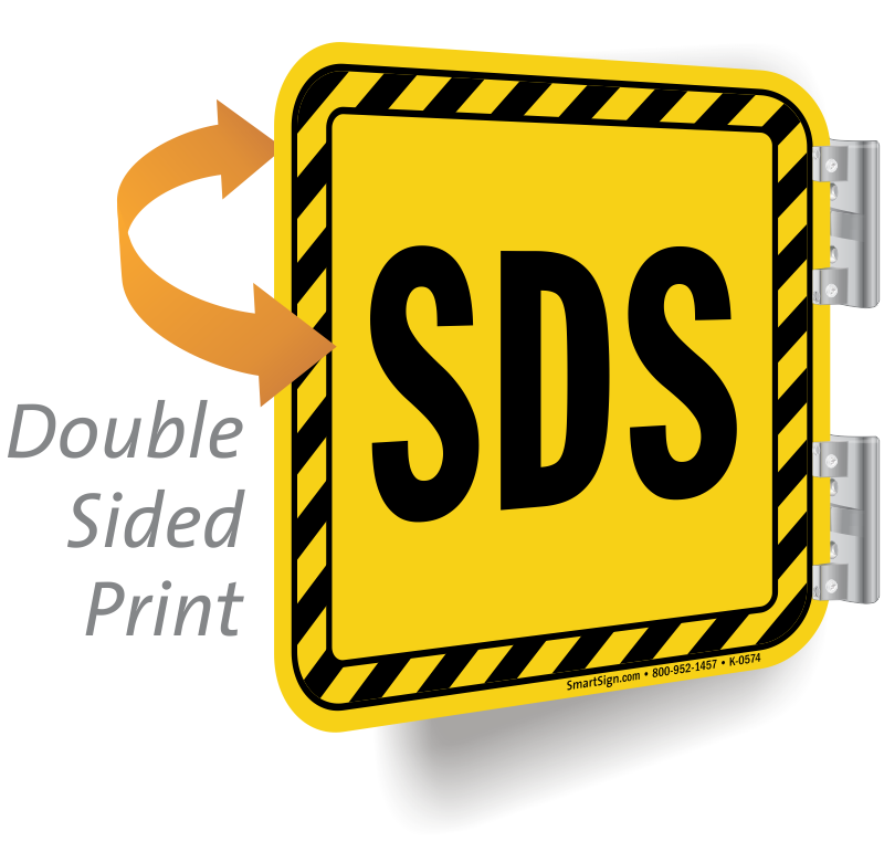 Sds signs msds material. Housekeeping clipart safety signage