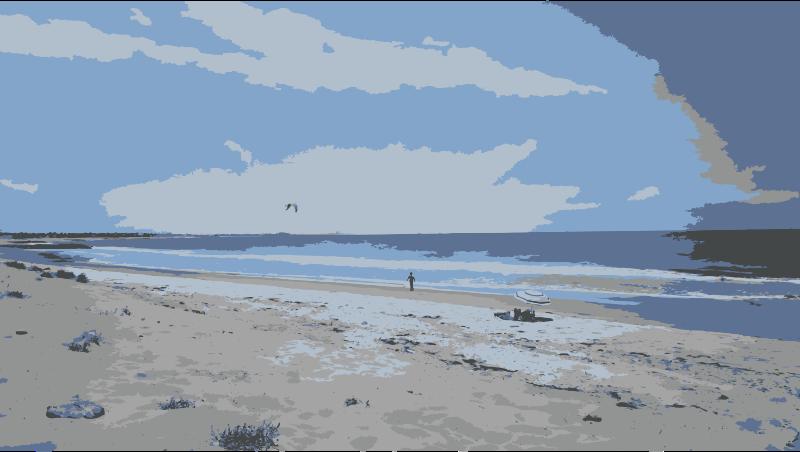 Clipart ocean ocean horizon. Beach day medium image