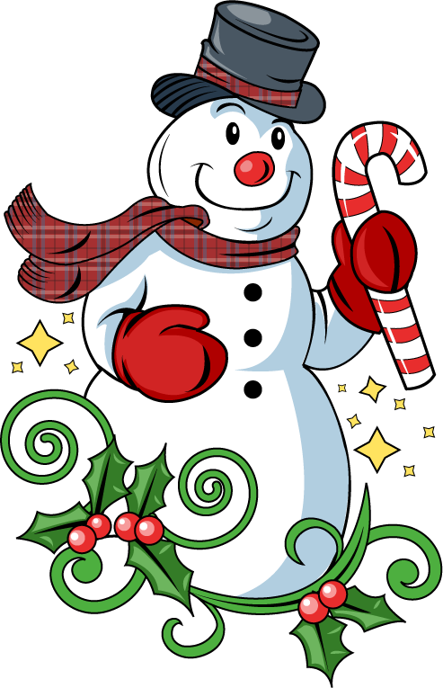 Christmas snowman clip art. December clipart holiday drink