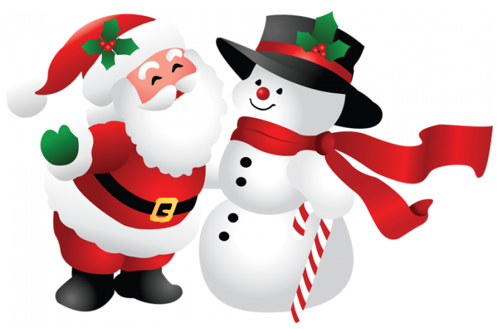 Christmas santa and png. Clipart reindeer snowman