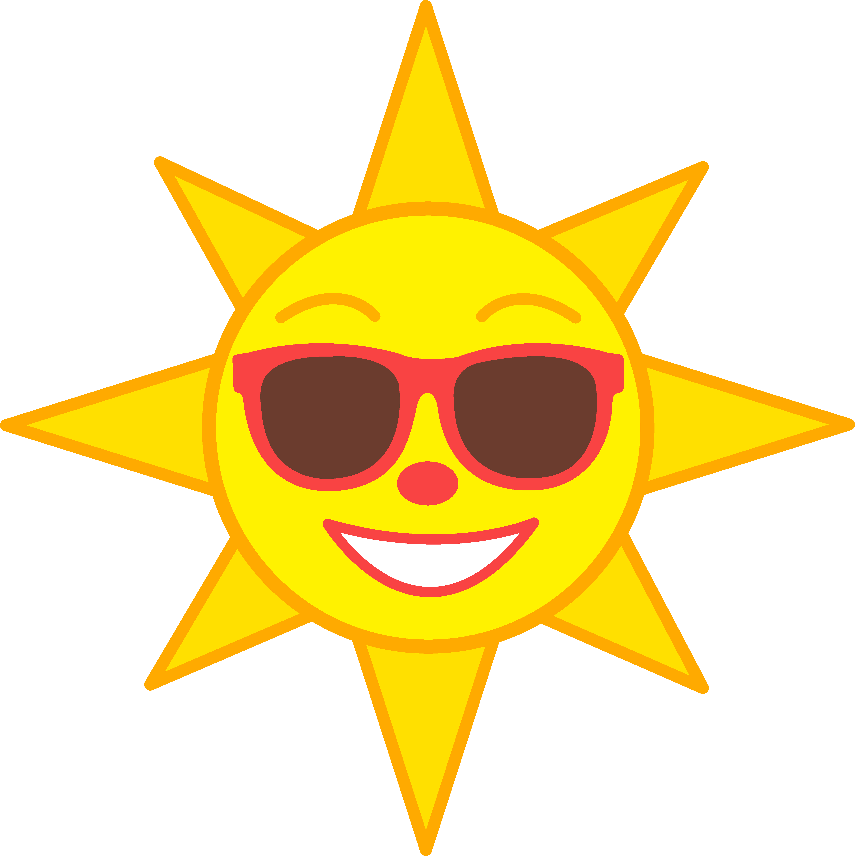 Sunshine sun clip art. Sunny clipart sign