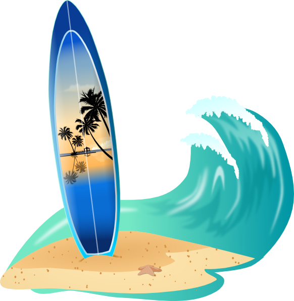 Surfboard and clip art. Clipart wave large wave