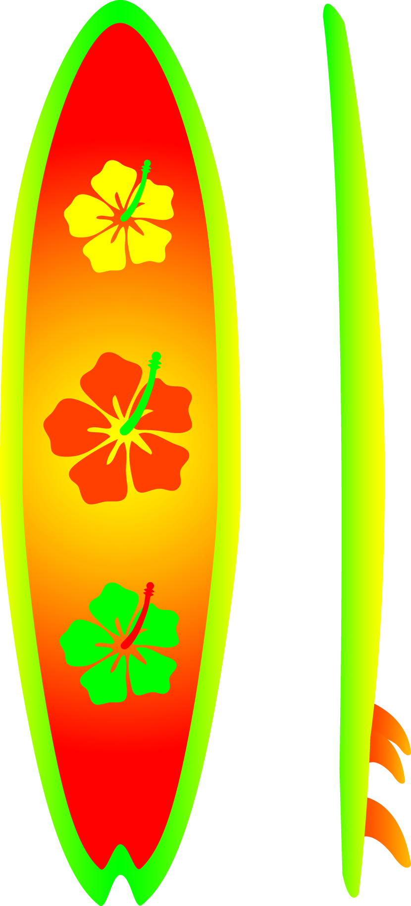 Green clipart surfboard. Transparent background image group
