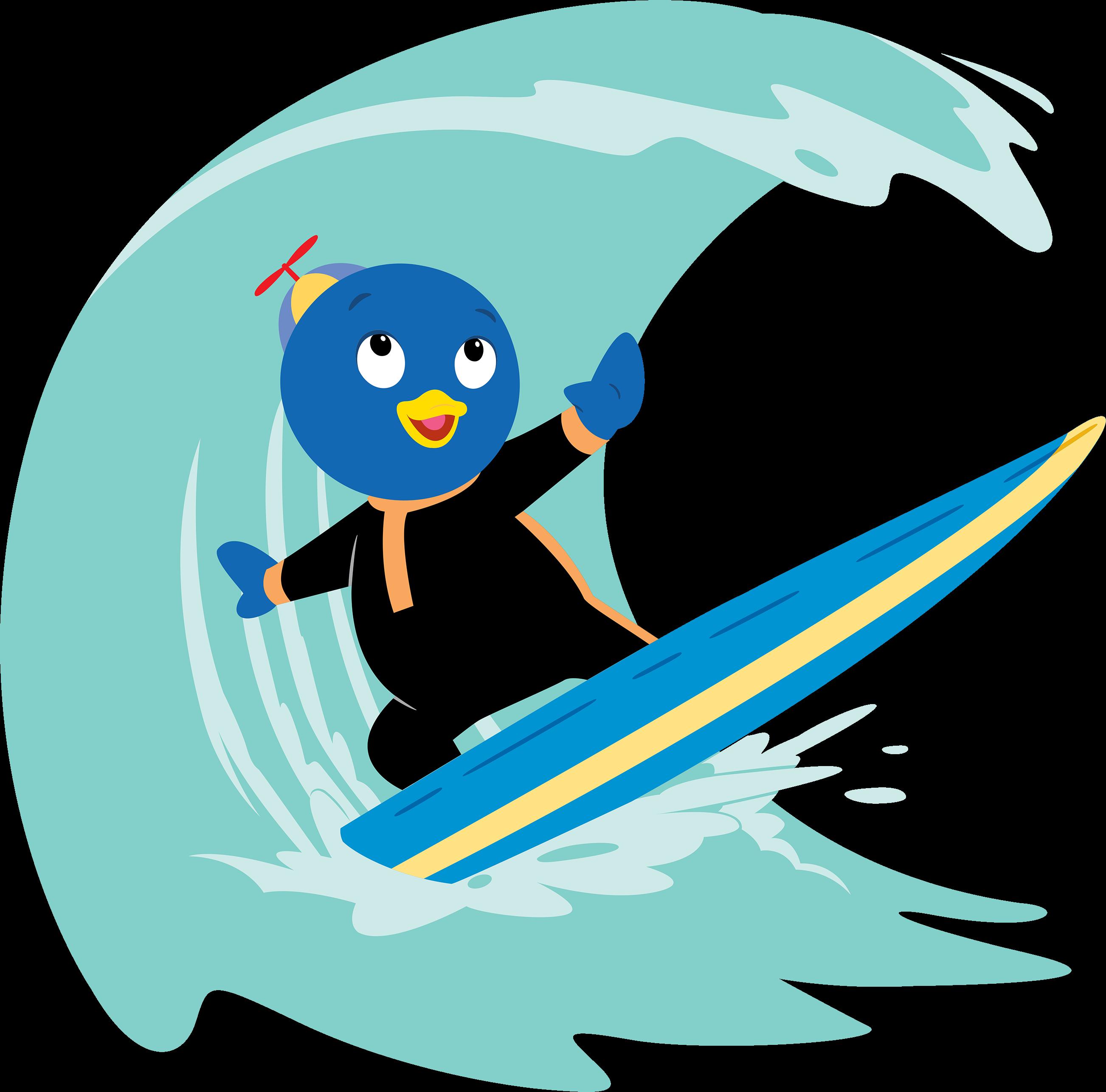 Surfing clipart beach theme. Image the backyardigans bonanza