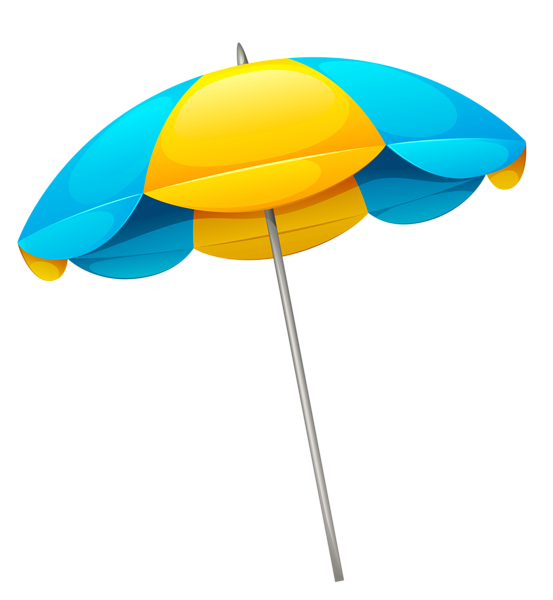 Words clipart beach. Yellow blue umbrella png