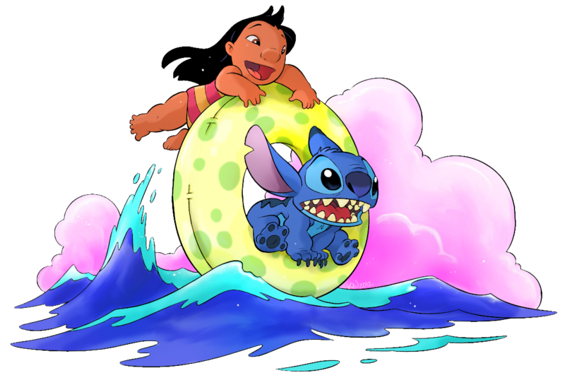 Stitch clipart main character. Lilo n tube by