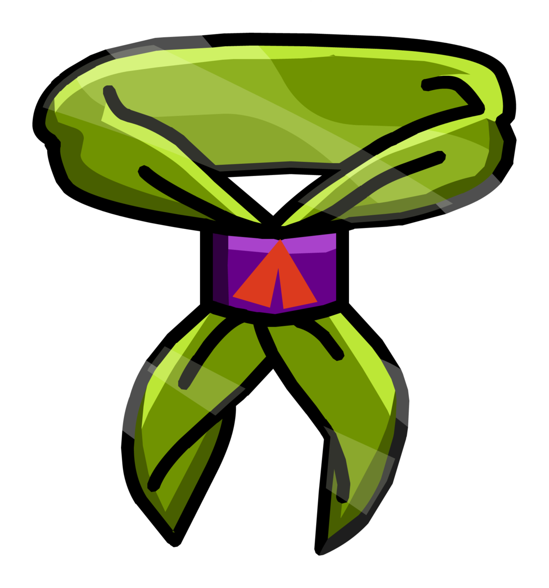 Scouting neckerchief scarf computer. Clipart chair animated