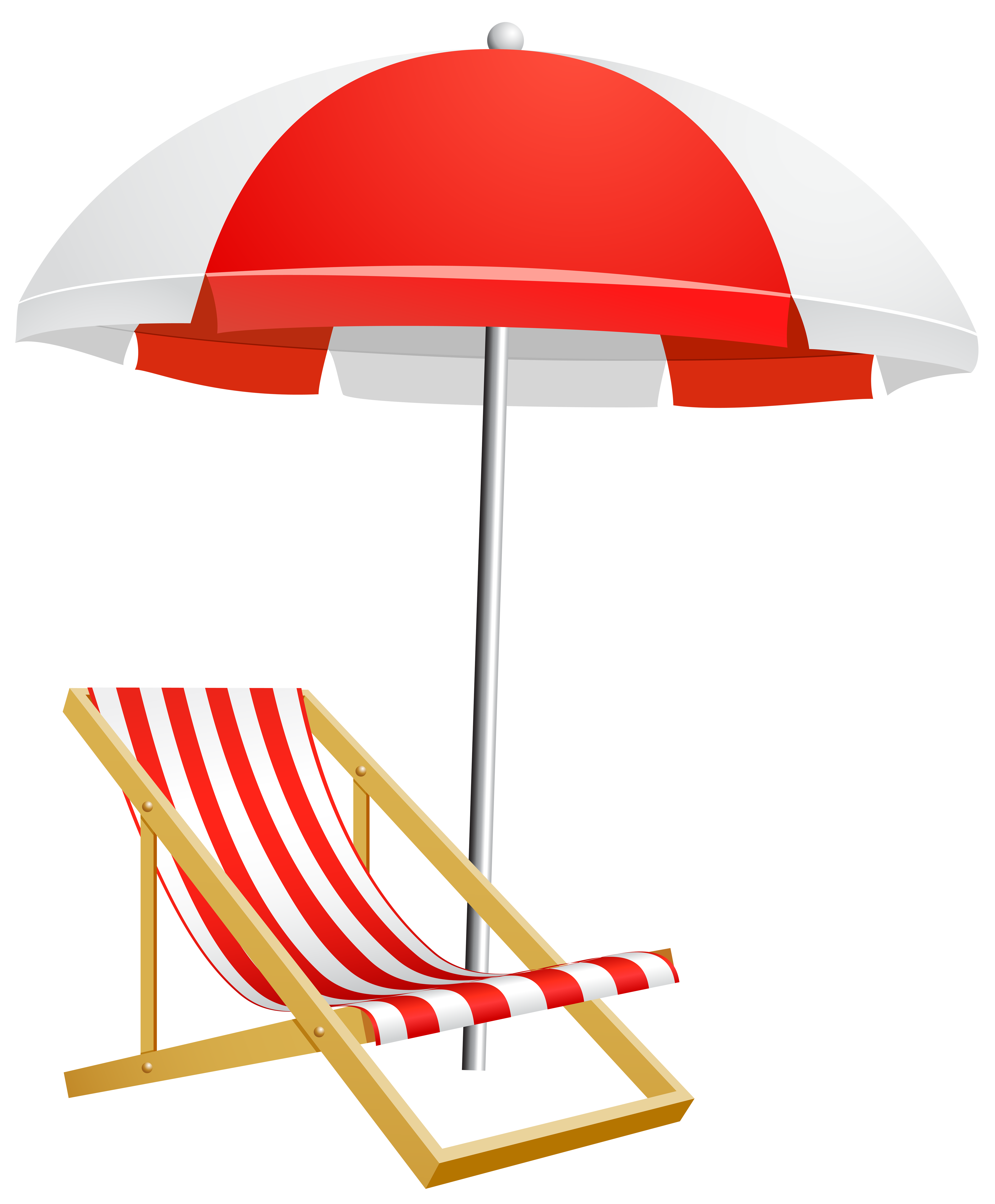 Clipart chair sea. Beach umbrella silhouette at
