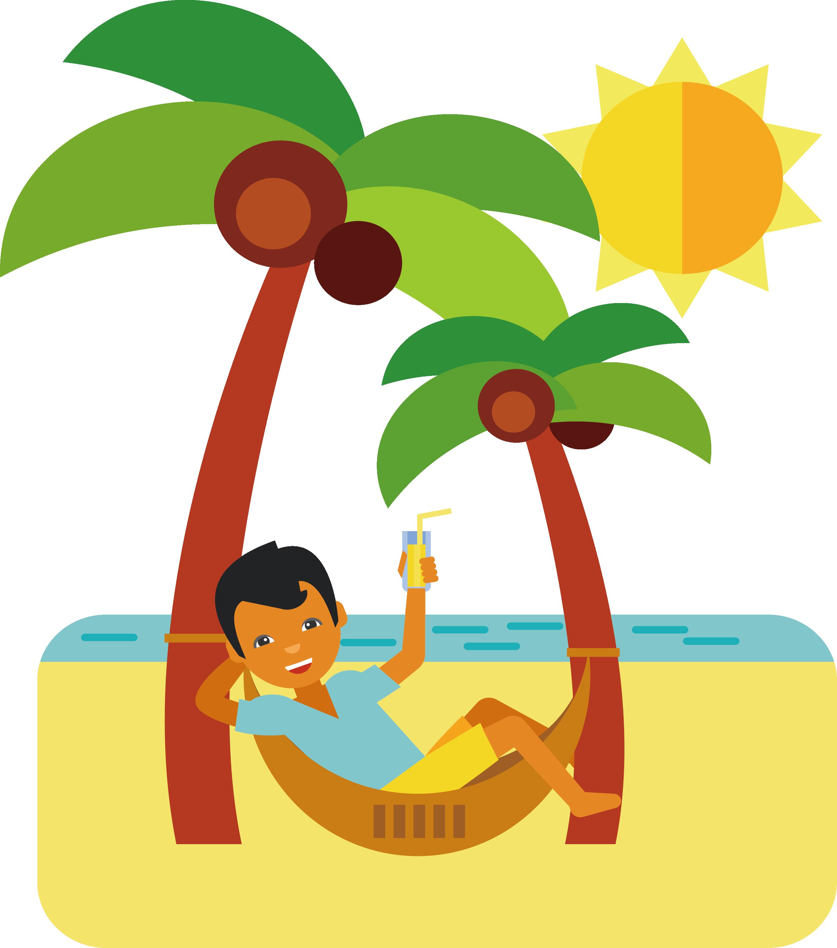 Cartoon clip art vacation. Clipart free beach