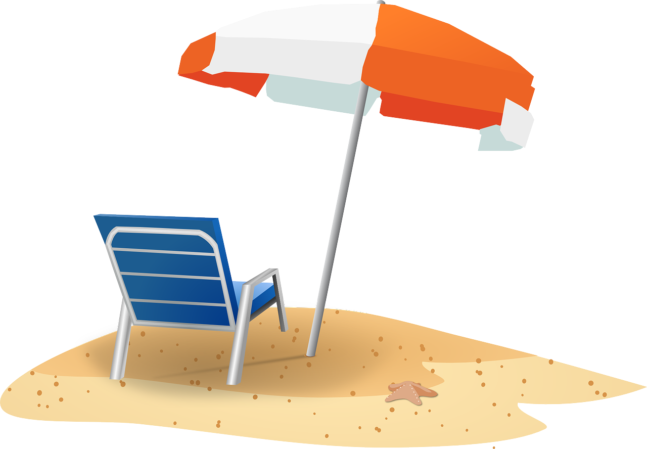 Volleyball clipart chair. Beach scene at getdrawings
