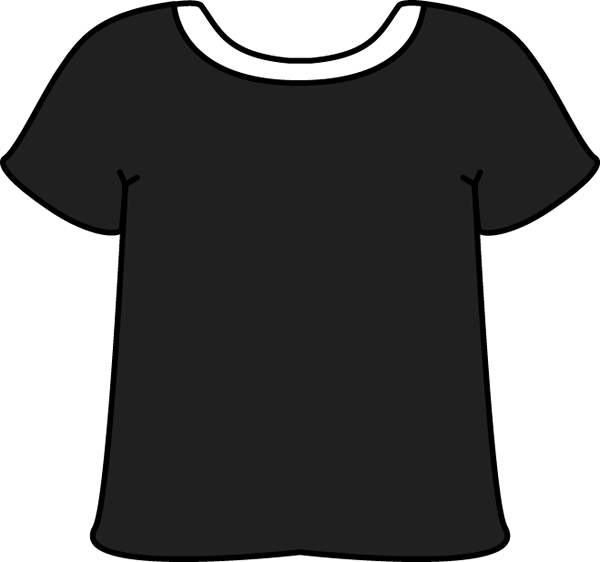 Black with white collar. Purple clipart tshirt