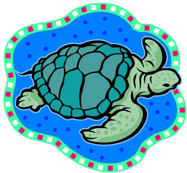 Hawaiian panda free images. Shell clipart sea turtle