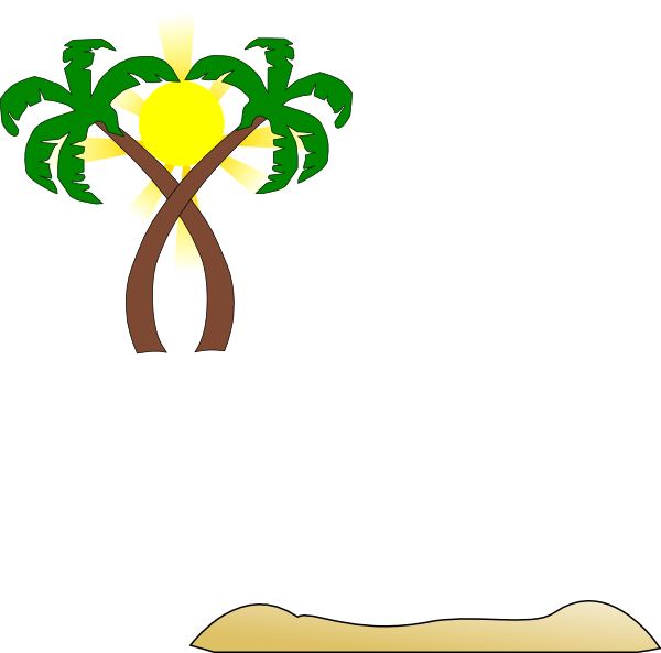 Double palm clip art. Tree clipart beach