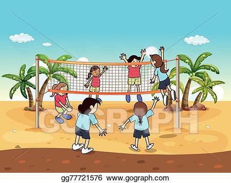 Vector art drawing gg. Volleyball clipart beach volleyball