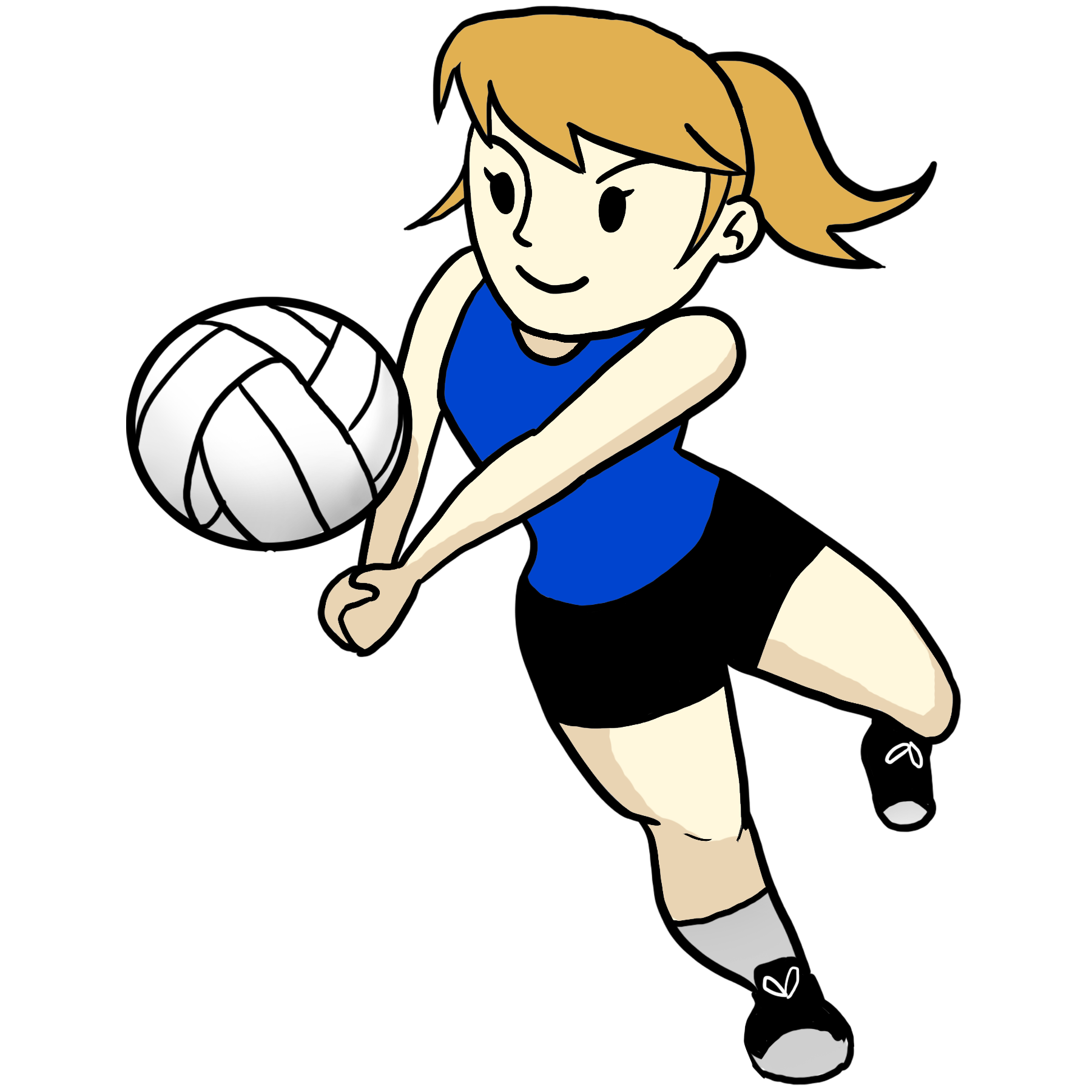 Hand clipart volleyball. Player png clip art