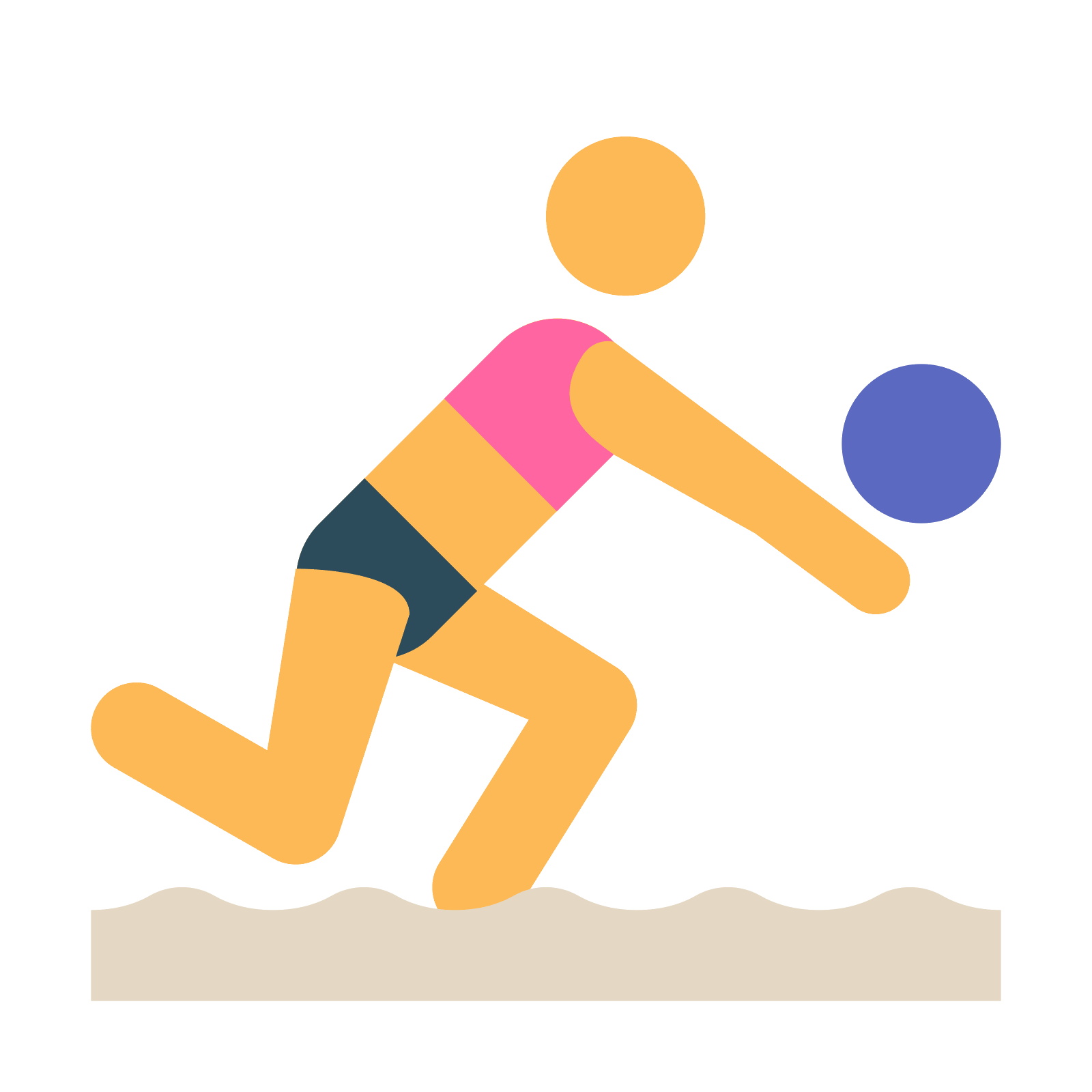 Color clipart volleyball player. Icon beach free download
