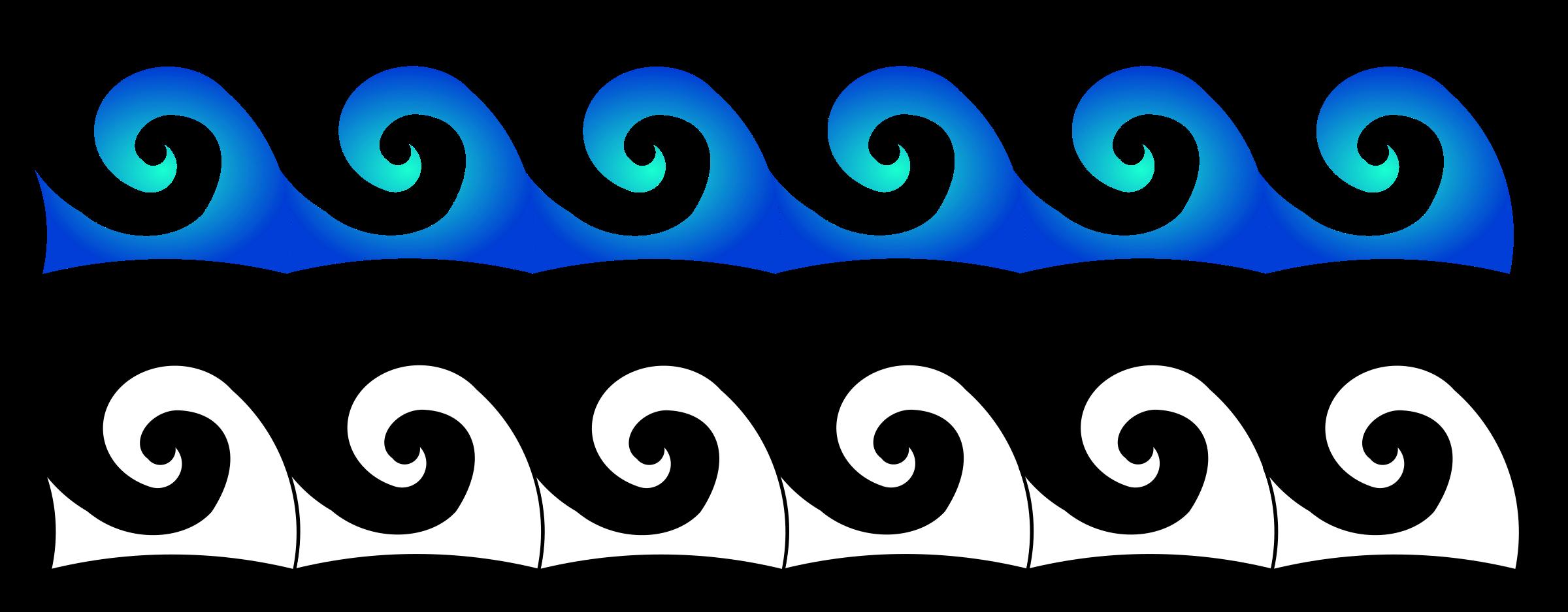 Waves big image png. Clipart ocean outline