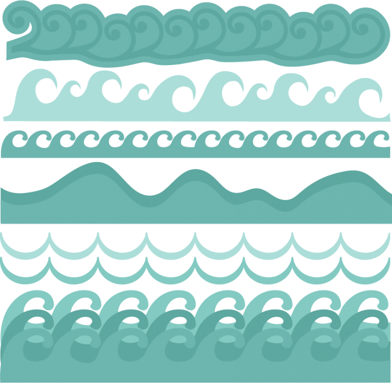 collection of ocean. Clipart waves cute