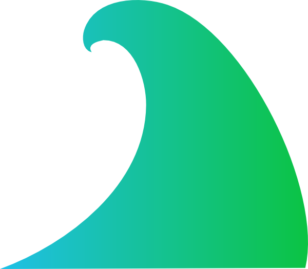 Ocean clip art at. Waves clipart wave vector
