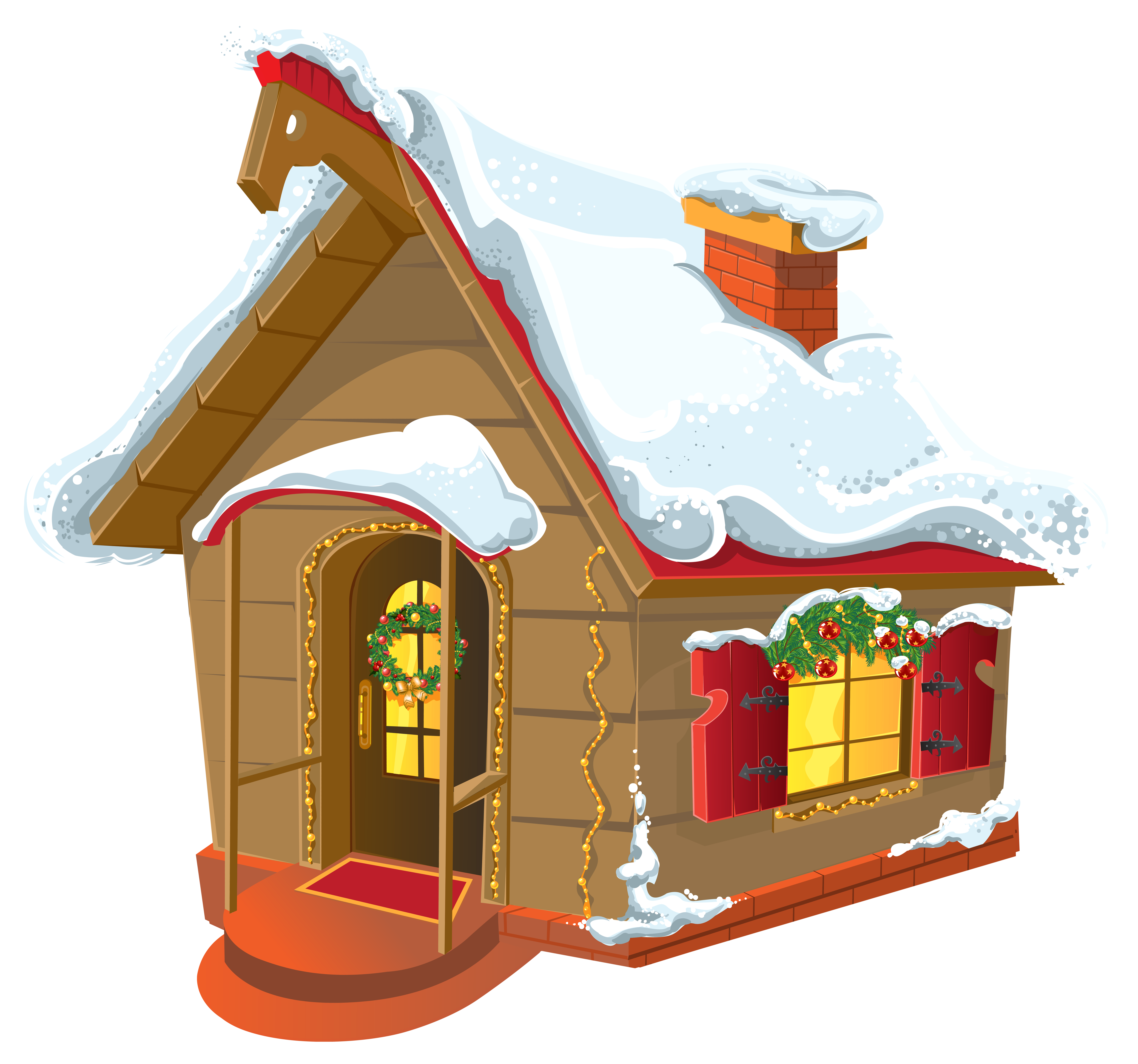 Winter house png image. Home clipart christmas