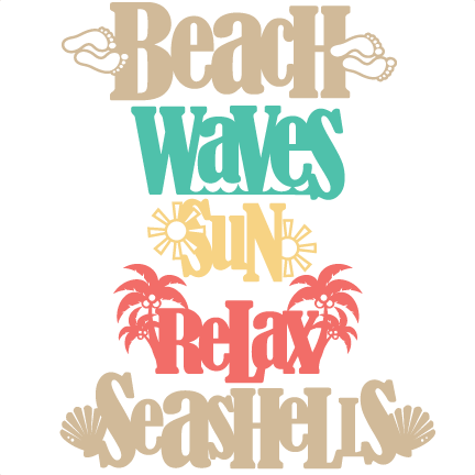 Clip art library . Clipart beach word