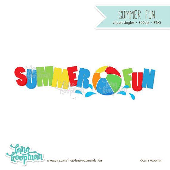 Summer ball . Clipart beach word