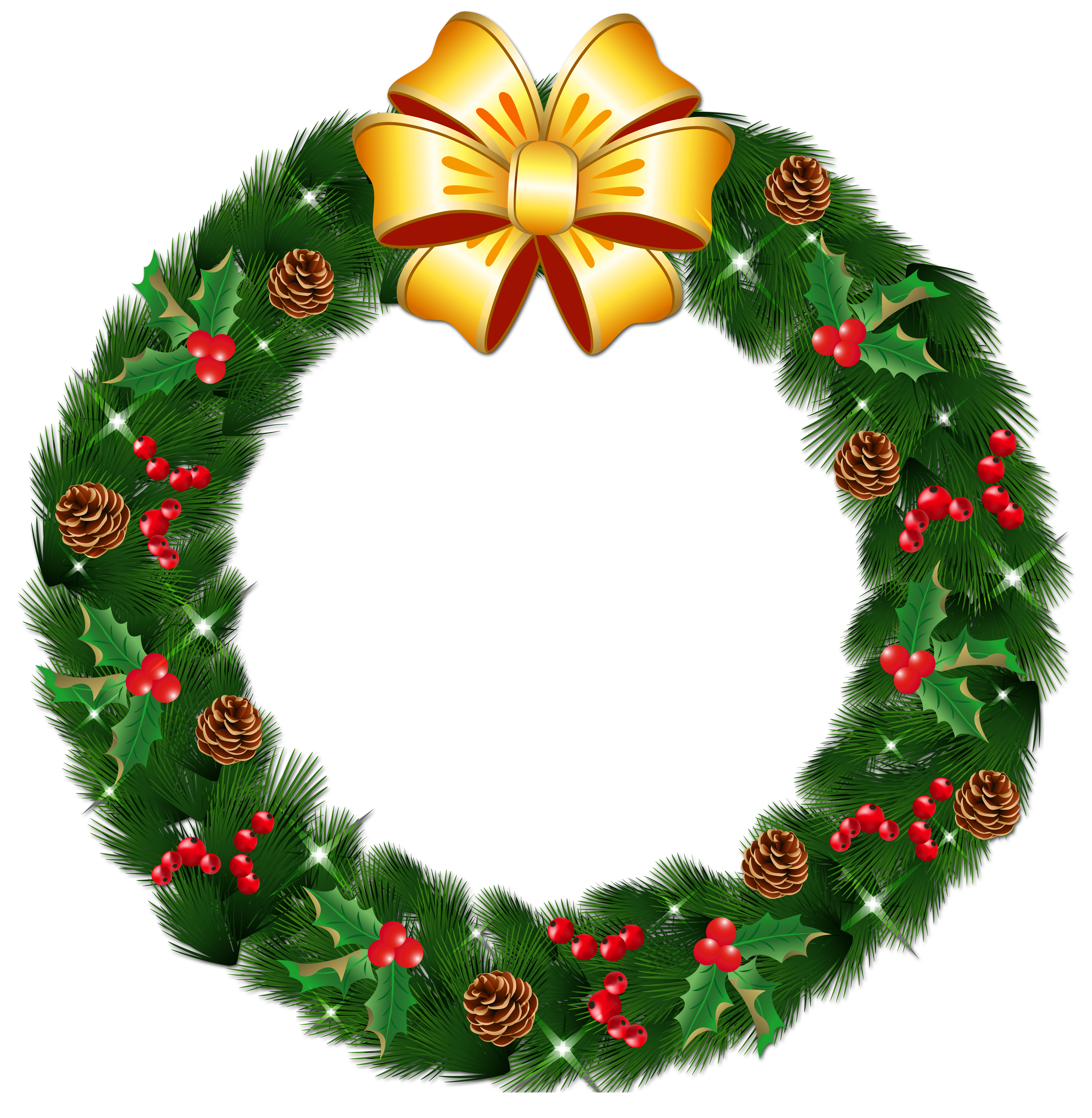 Clipart bow wreath bow. Transparent christmas pine with