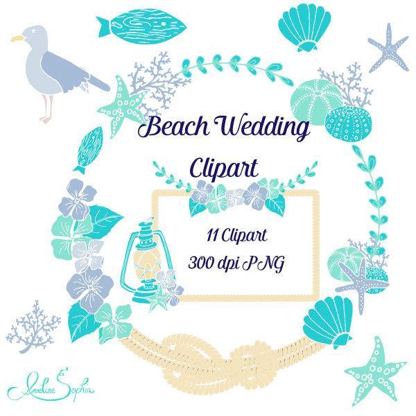 Ocean clipart wedding. Beach nautical invitation clip