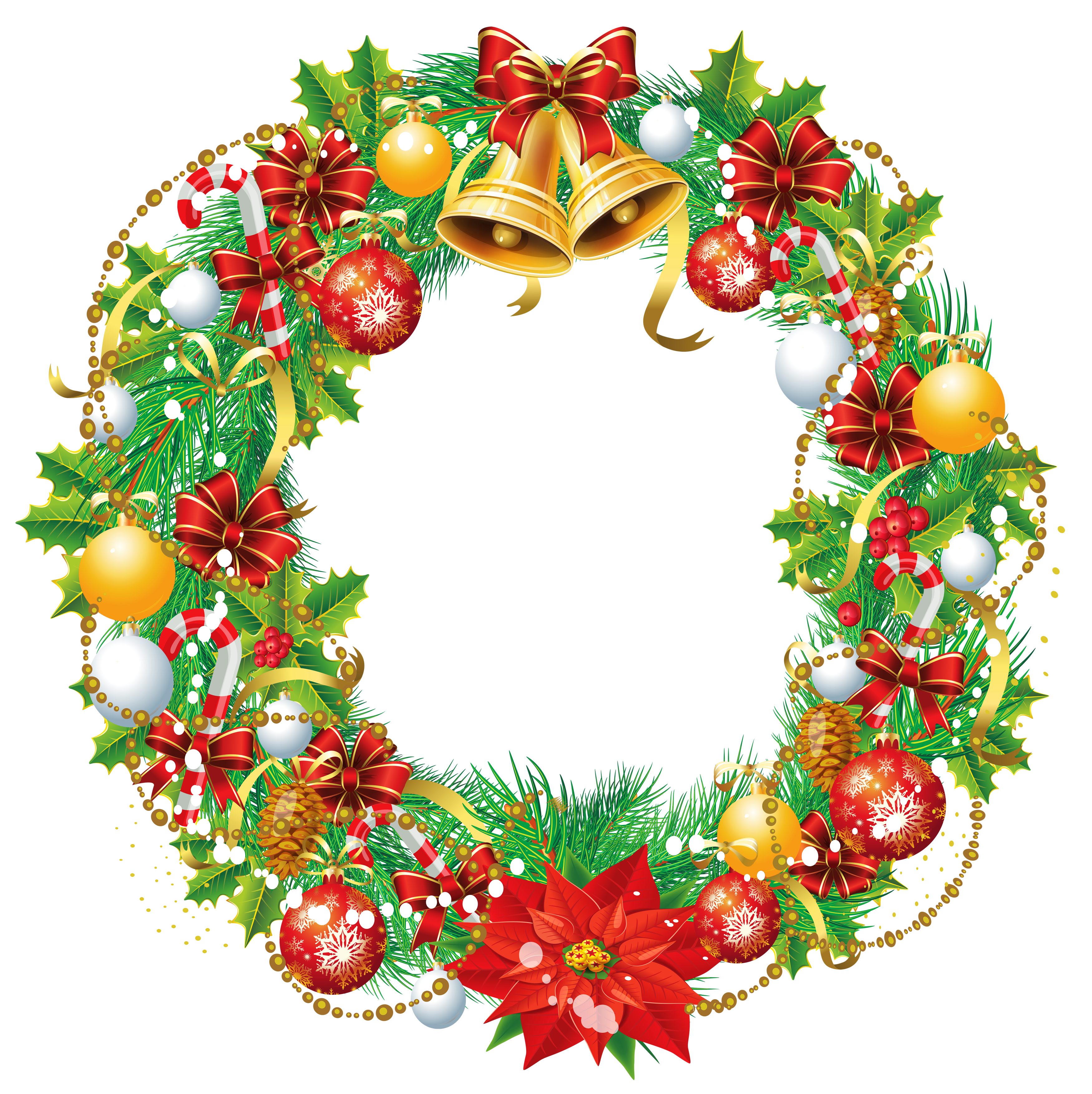 Christmas wreath vector png. Transparent clipart picture gallery